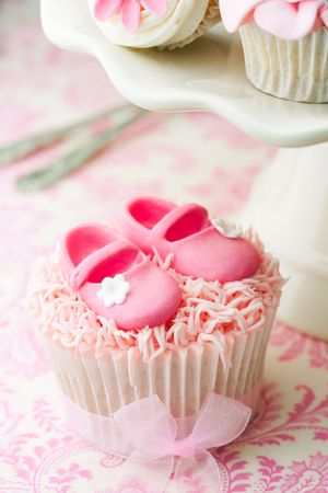 Cupcakes for a baby shower photo