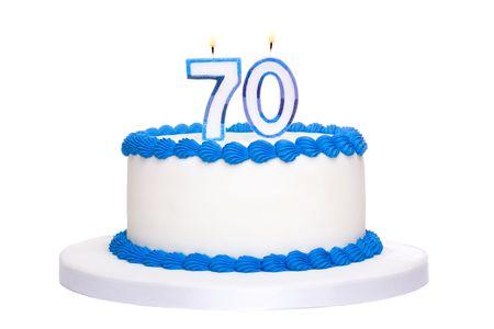 seventieth: Birthday cake