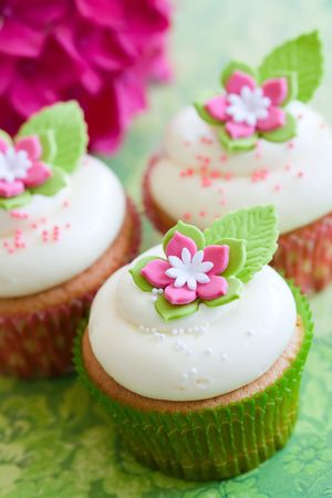 Flower cupcakes Stock Photo - 7708354