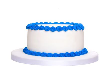 cake with icing: Blank birthday cake
