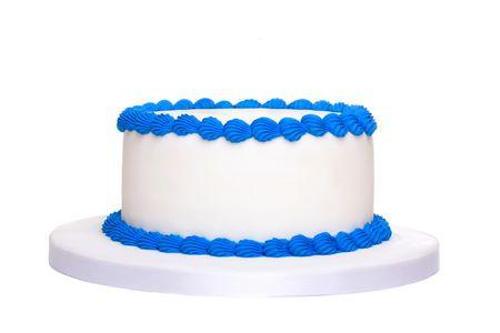 pastel aniversario: Pastel de cumpleaños en blanco