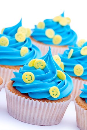 Smiley face cupcakes photo