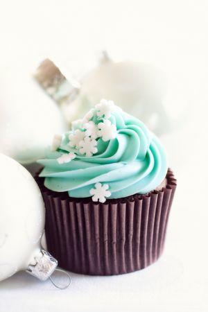 Christmas cupcake Stock Photo - 7948252