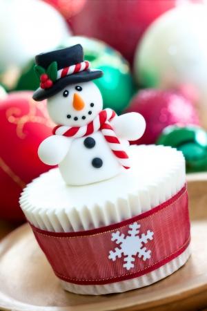 bonhomme de neige: Noël cupcake