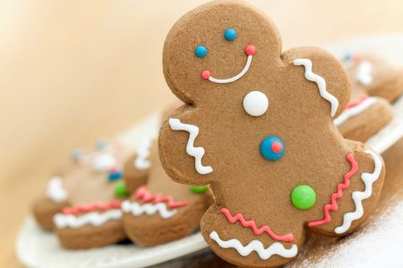 baking cookies: Gingerbread man
