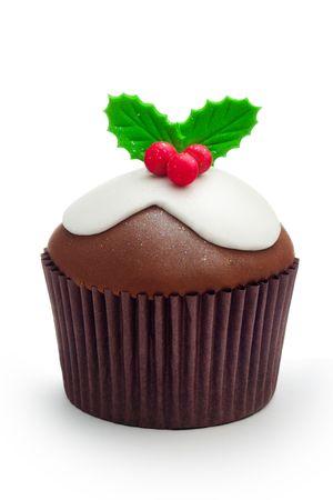 cioccolato natale: Cupcake Natale Archivio Fotografico