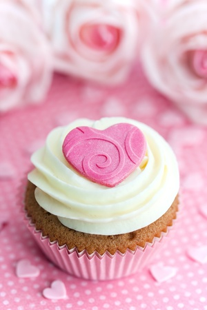 Valentine cupcake Stock Photo - 8589755
