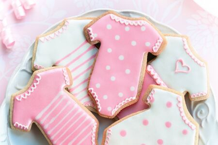 Babyshower cookies Stock Photo - 8622662