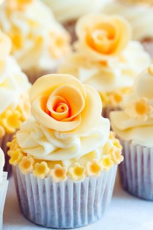 fondant: Nozze cupcakes Archivio Fotografico