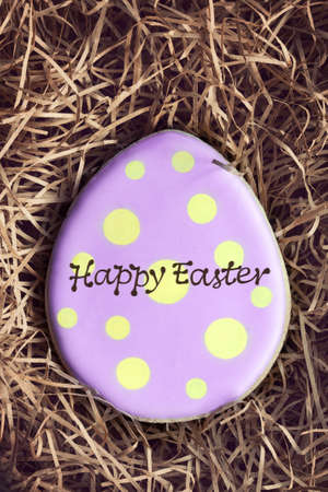 easter cookie: Easter egg cookie