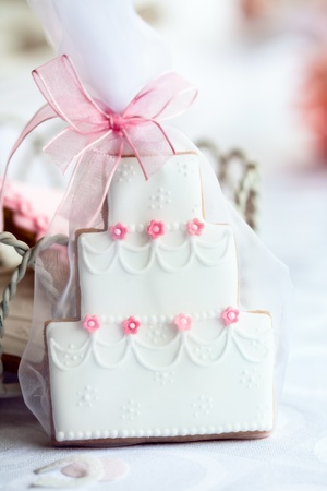 favours: Wedding cake favor Stock Photo