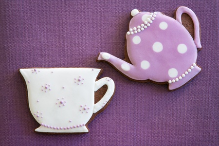 afternoon tea: Afternoon tea cookies Stock Photo