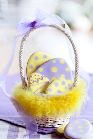 Easter egg cookies photo
