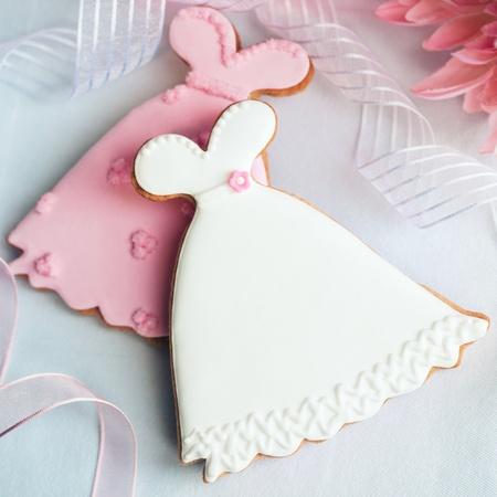 Cookies de vestido de boda Foto de archivo