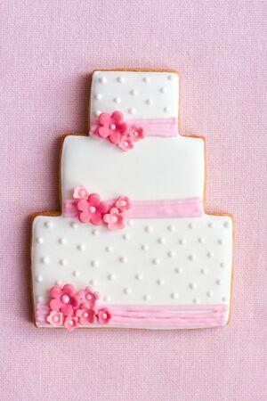 Pastel de boda de cookie  Foto de archivo - 9089817