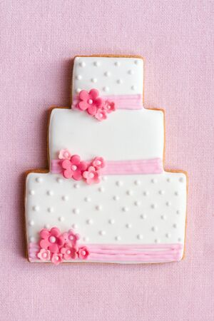 favours: Wedding cake cookie