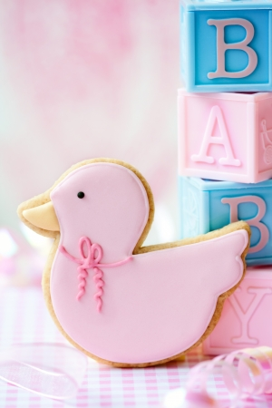 Baby shower cookie Stock Photo - 9089818