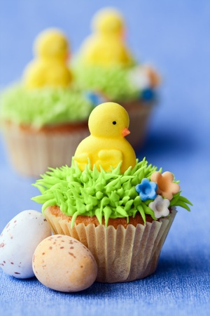 chicks: Easter cupcakes