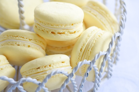 afternoon tea: Lemon macarons