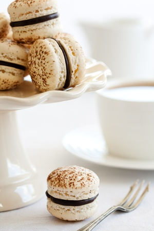 Chocolate macarons photo