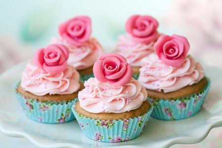 Vintage cupcakes photo