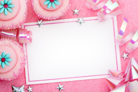 Pink party background  photo