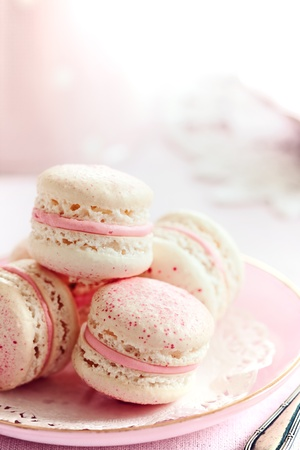 Strawberry macarons photo