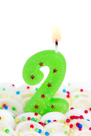 second place: Number two candle Stock Photo