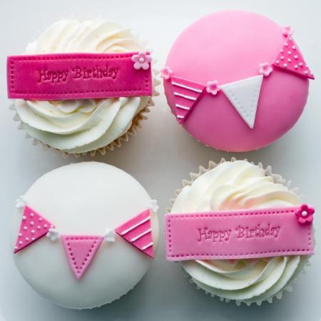 pasteles de cumpleaños: Magdalenas de cumpleaños