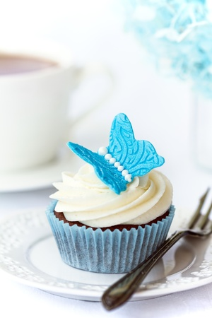 Butterfly cupcake photo