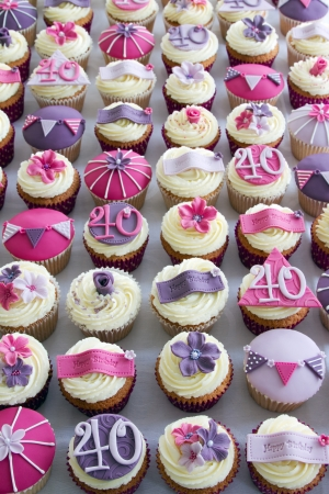 40th birthday cupcakes Stock Photo - 10431569