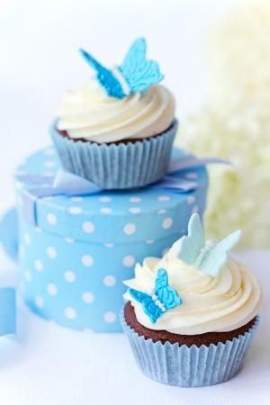 boda pastel: Magdalenas mariposa