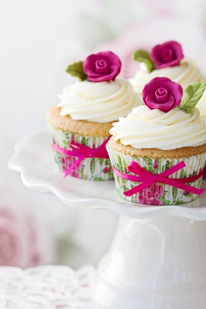 Rose cupcakes Stock Photo - 10575152