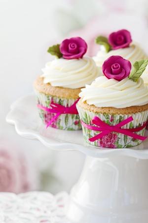 fairy cakes: Rose cupcakes