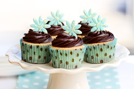 sugarpaste: Chocolate cupcakes