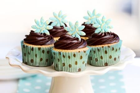 Cupcakes al cioccolato Archivio Fotografico - 10701097