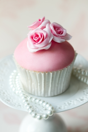 Rose cupcake Stock Photo - 10747426