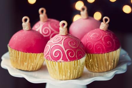 cakestand: Christmas cupcakes  Stock Photo