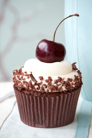 fairy cake: Black forest cupcake