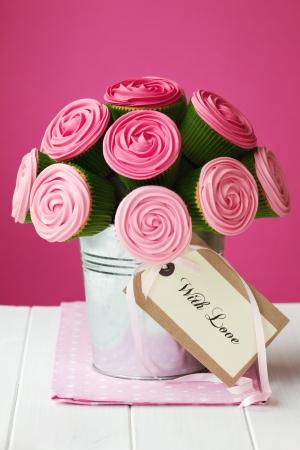 pink cupcakes: Cupcake bouquet