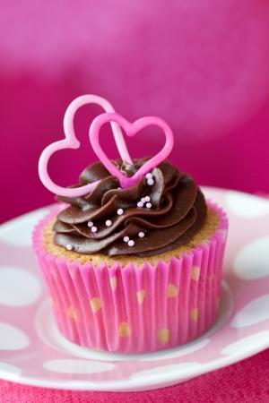 Valentine cupcake photo