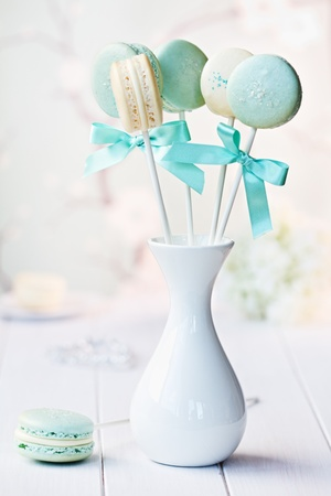 party favors: Macarons Stock Photo