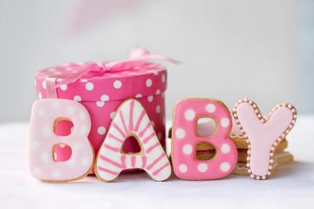 Las cookies Baby shower Foto de archivo