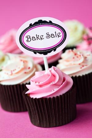 Cupcakes de una venta de pasteles