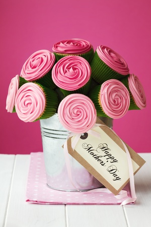 Mother s day cupcake bouquet Stock Photo - 12550141