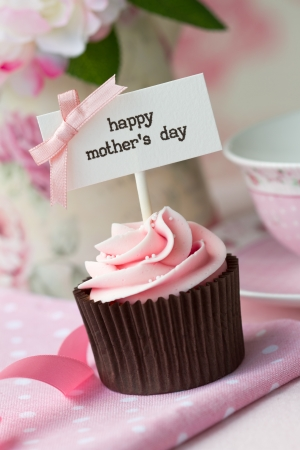 fairy cakes: Cupcake for mother s day Stock Photo