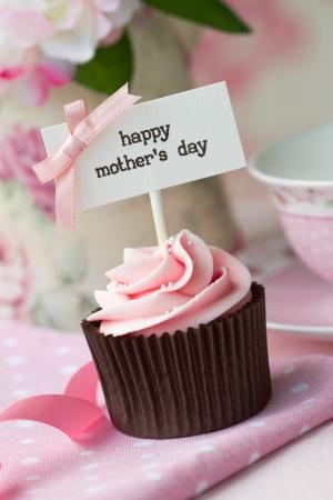Cupcake para el día de la madre de s Foto de archivo - 12550155