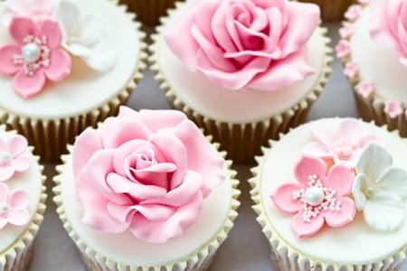 pink cake: Wedding cupcakes
