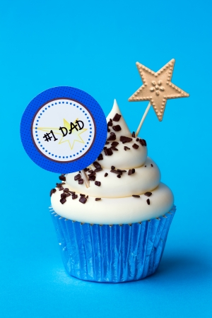 first home: Cupcake for fathers day Stock Photo