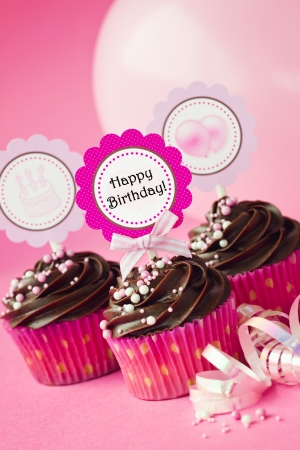 Birthday cupakes Stock Photo - 12884044